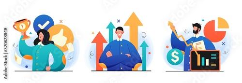 Business Leadership illustrations Wallpaper Mural