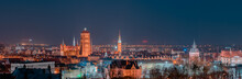 Night Panorama Of The City Of ...