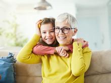 Grandchild Granddaughter Grandma Grandmother Portrait  Girl Senior Love Family