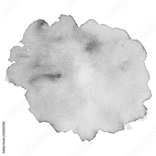 Grayscale abstract watercolor background for your design. Fototapete