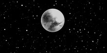 Full Moon With Stars Isolated ...