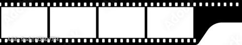 Obraz Black and white camera film template. Vector illustration. - fototapety do salonu