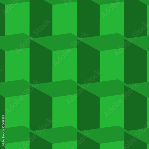 An abstract green block shaped background image.