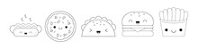 Food Icons. Fast Food. Kawaii ...