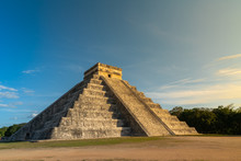 Mayan Ruins Chichen Itza, Sunset