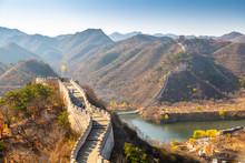View Of Great Wall Of China At...