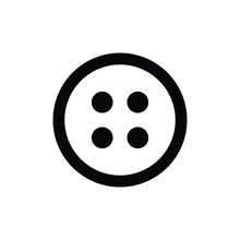 Button Icon Vector Black Stud ...
