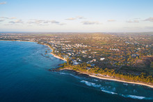 Aerial By Drone Of Tropical Be...