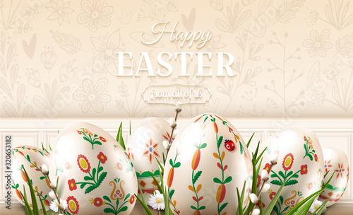Fototapeta Modern Easter folk banner obraz