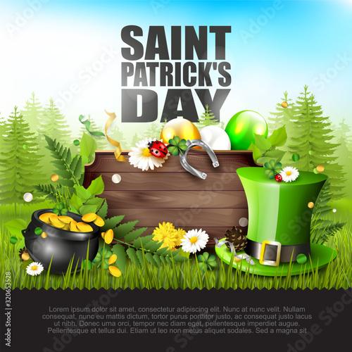 Fototapeta St. Patrick's Day card obraz