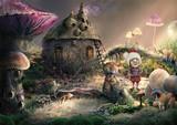 Fantasy Forest. Creative illustration, CG,3d