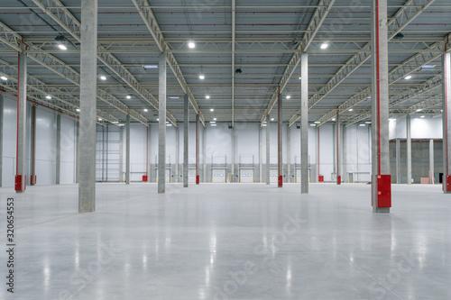 Fotomural Large modern empty storehouse, nobody