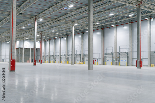 Large modern empty storehouse, nobody