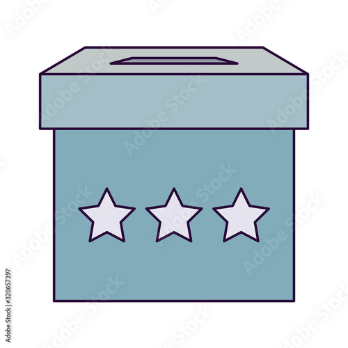 Fototapeta Isolated vote box vector design