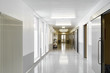The corridor of the hospital. The premises of the laboratory.