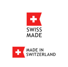 Swiss Made Label, Sticker With...
