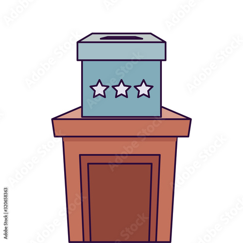 Fototapeta Isolated vote box over podium vector design