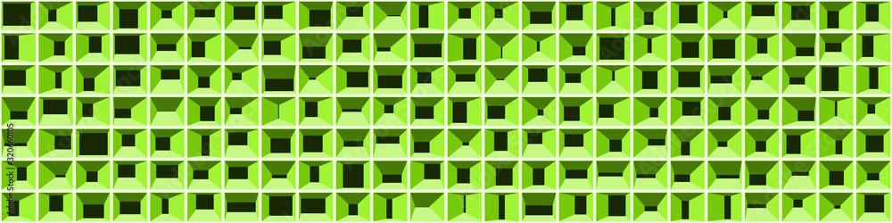Fototapeta Abstract Structure Blocks Generative Art background illustration