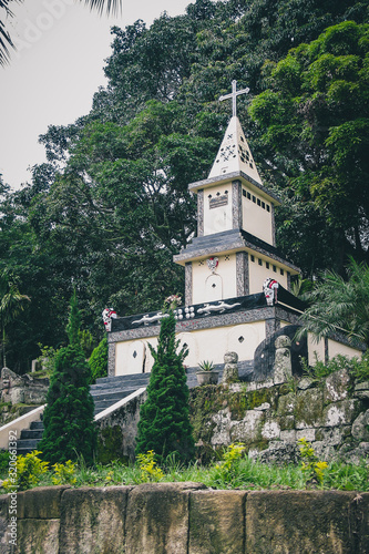 Photo Typical christian tomb of the people of Batak in northern Sumatra in Indonesia,