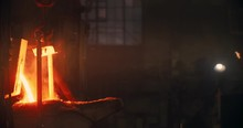 Liquid Metal In The Factory, Foundry, Smelting Iron And Processing.