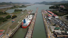 Aerial View Of Panama Channel ...