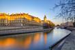 canvas print picture - Paris, France - November 18, 2018: Quai des Orfevres along river Seine in Paris