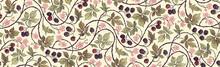 Floral Botanical Blackberry Vi...