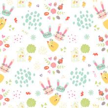 Easter Nursery Seamless Patter...