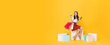 Woman Carrying Shopping Bags W...
