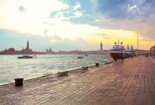 Heavy Rain In Venice Port