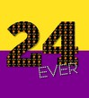 canvas print picture - 24ever text on purple and gold background