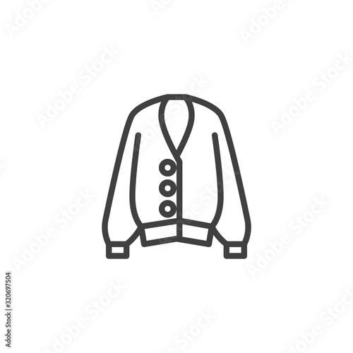Fotografía Female sweater line icon
