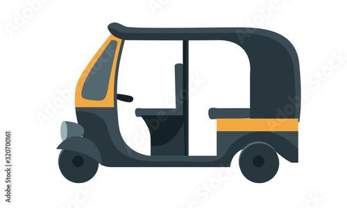 Vászonkép mumbai auto rickshaw vector