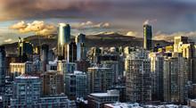 Cityscape View Winter Snow Cov...