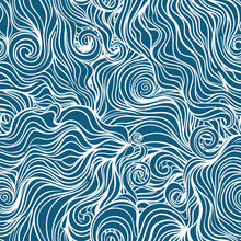 Seamless Curl Wave Background