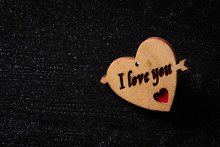 Wooden Heart With Arrow And I ...