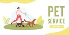 Dog Walker Service Trendy Flat...