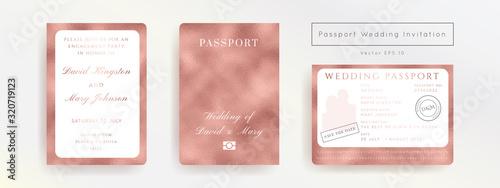 Destination Wedding Pass Vector Canvas Print
