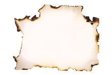 White Sheet Of Paper Burned At...