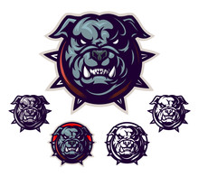 Cartoon Bulldog Head Emblem