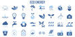 Set of Ecology ,Nature ,Recycle Energy, Creative Related Vector flat Icons.