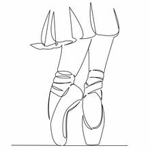 Ballerina Legs In Ballet Shoes Skirt