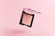 A Flying Packaging Of Pink Blu...