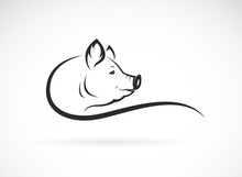 Vector Of A Pig Head Design On...