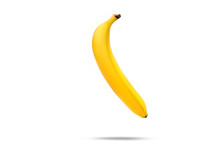 Banana Hang On White Background.