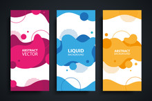 Flyers Set With Abstract Moder...