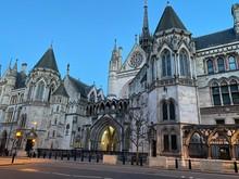 Royal Courts Of Justice At Nightfall, London