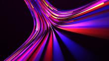 3d Rendering. Glow Colorful Mu...
