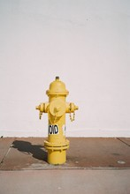 Yellow Hydrant Fire Fountain