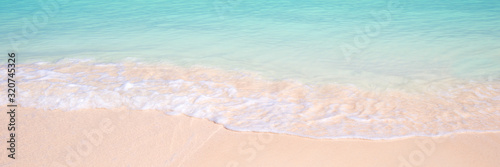 Fototapeta Sand and ocean panoramic background, summer concept obraz